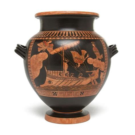 Floor And Decor Store Greek Stamnos Vase Odysseus Amp Sirens Small The Getty