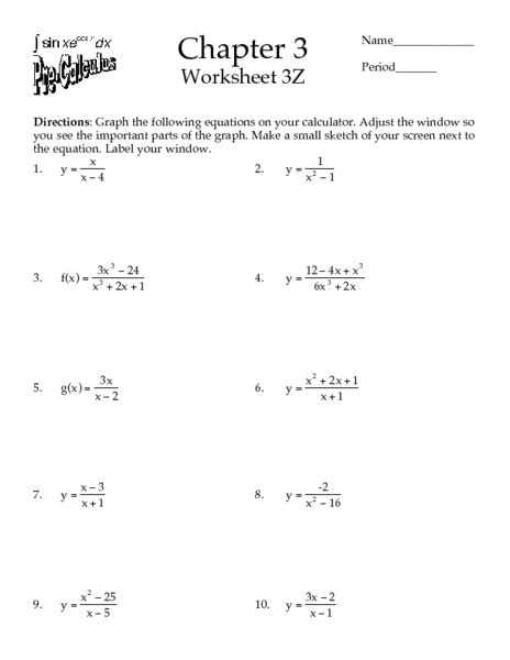 Precalculus Worksheets Free Printable by All Worksheets 187 Pre Calculus Worksheets Printable