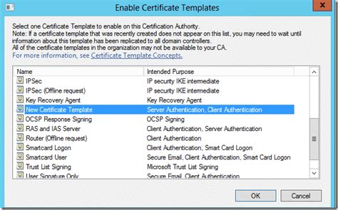 certificate authority templates imts2010 info