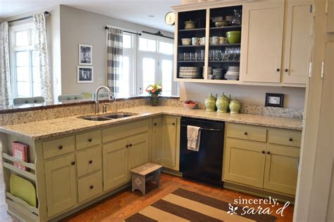 Painted Kitchen Cabinet by Painting Kitchen Cabinets With Chalk Paint Update