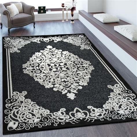 laagpolig vloerkleed bruin laagpolig vloerkleed barokstijl zwart tapijt tapijt met