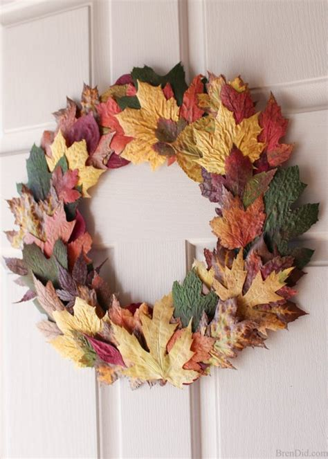 cheap easy diy fall wreath with fresh leaves for 0 hometalk