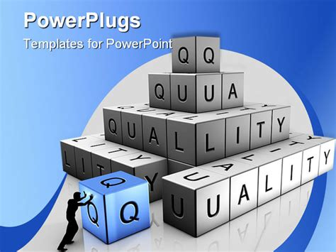 free powerpoint templates for quality control a man puts up bricks of quality powerpoint template