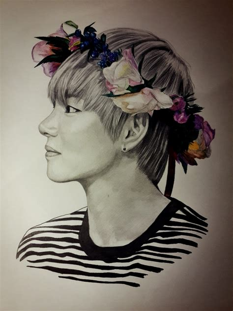 V Drawing Jimin by V Bts By Olyazabolockaya5 On Deviantart