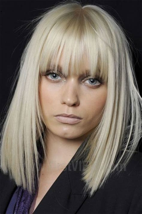 blonde bob hair with fringe 15 modern medium length haircuts with bangs layers for
