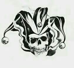 imagenes de calaveras joker the jokers jester skull tattoo upper right side of the