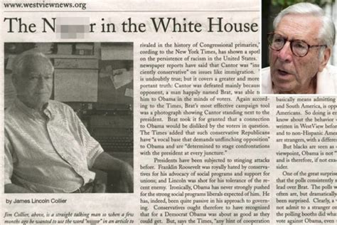 nigger in the white house quot le n 232 gre 224 la maison blanche quot le titre d un article fait pol 233 mique