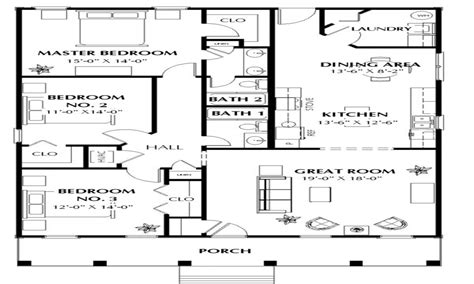 one story house plans 1500 square feet 2 bedroom 1500 square feet house plans house plans 1500 square feet