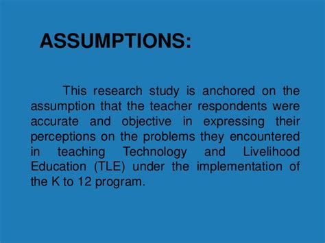exle of assumption in research paper assumption dissertation writing