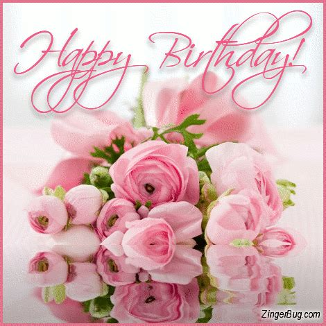 Wedding Bouquet Meme by Happy Birthday Pink Reflecting Bouquet Glitter Graphic