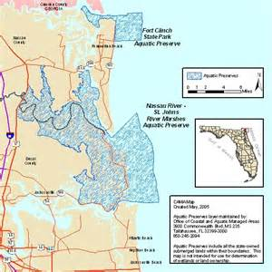 Northeast Florida Map by Map Of Northeast Florida Aquatic Preserves