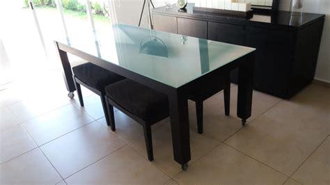 comedor vidrio templado comedor moda in casa cristal templado mesa 4 bancos negro