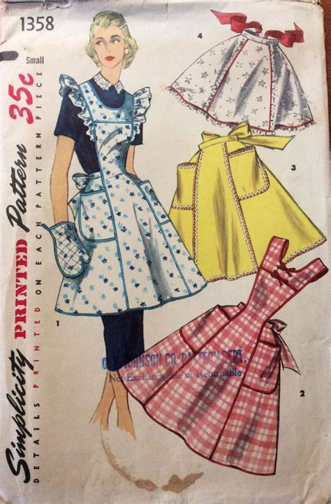 sewing pattern for apron 1368 best aprons images on pinterest aprons vintage