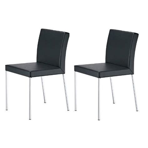 Faux Leather Dining Chairs Uk 2x Black Faux Leather Dining Chairs Homehighlight Co Uk