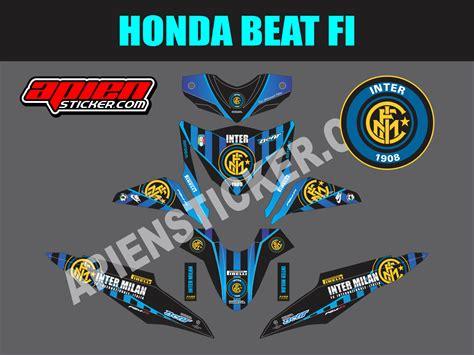 Striping Yamaha X Ride Inter Milan striping motor beat fi intermilan apien sticker