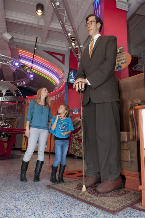Records San Antonio Tx Our Guests Standing Next To A Replica Of Robert Wadlow