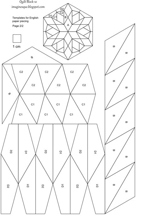 Free Patchwork Templates - imaginesque quilt block 10 pattern and template