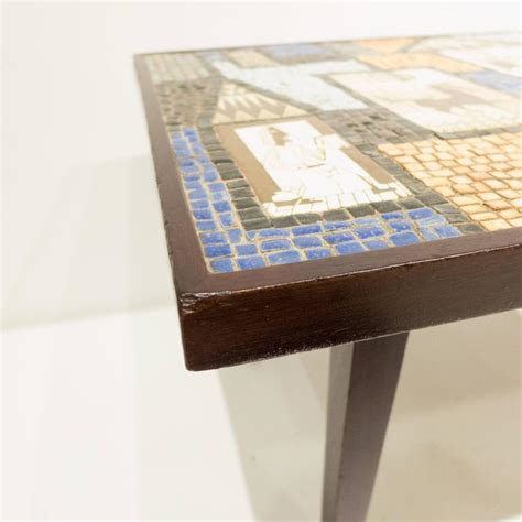 Mosaic Table L David Holleman Ceramic Mosaic Table For Sale At 1stdibs