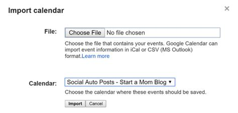 csv format to import to google calendar how to automatically reshare your social media updates