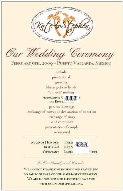 one page wedding program template best photos of one page wedding program wording one page