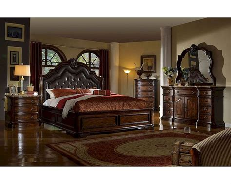 sleigh bedroom furniture sets traditional bedroom set w sleigh bed mcfb6002set