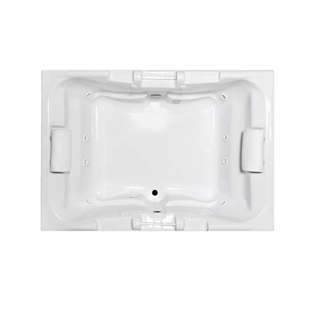 two person whirlpool bathtubs shop laurel mountain delmont 2 person white acrylic