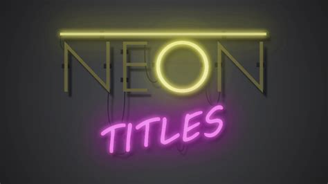 tutorial after effect text neon text in after effects easyaftereffects net