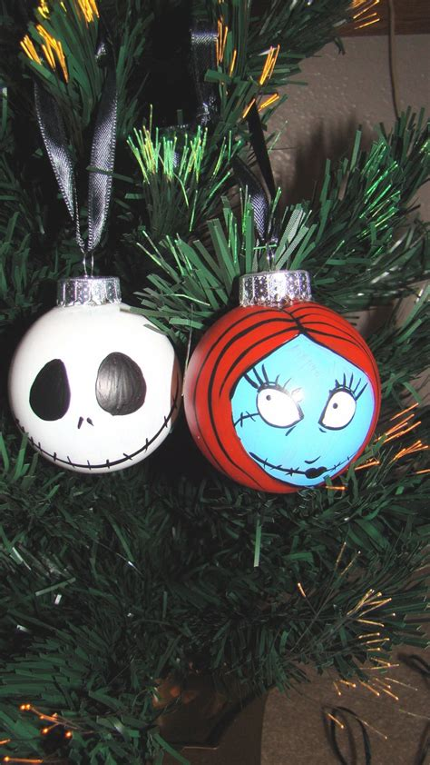 nightmare before christmas jack and sally ornaments