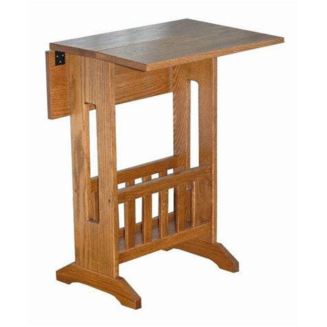 mission style accent tables mission style double drop leaf oak accent table with