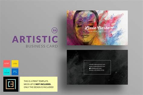 artistic templates 16 business card template photoshop offers for creative