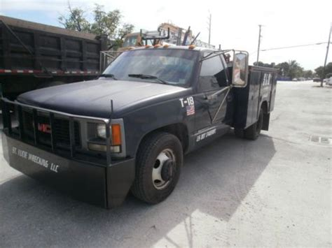 how to work on cars 1994 gmc 3500 interior lighting purchase used 1994 gmc sierra 3500 utility truck in miami florida united states