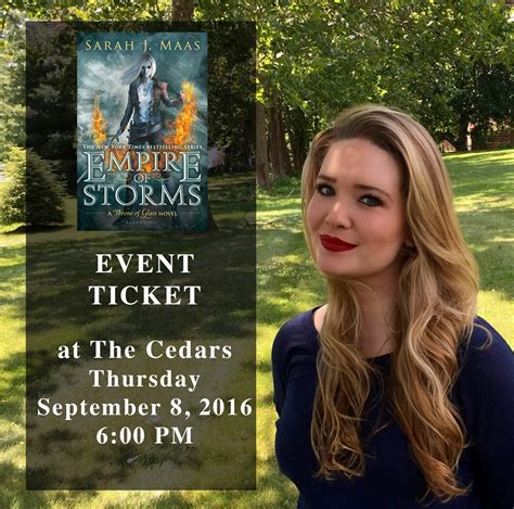 Empire Of Storms By J Maas Paperback J Maas Event At Lemuria Books