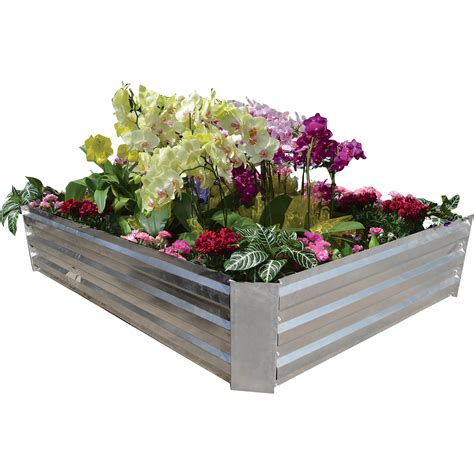 galvanized raised garden bed galvanized steel raised garden bed www kotulas com