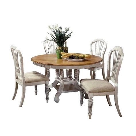 hillsdale wilshire 5 dining table set in