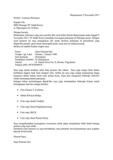 Contoh Surat Lamaran Kementrian Pendidikan contoh surat lamaran kerja cpns kementrian pendidikan