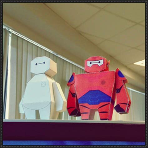 Kaos 3d Square Big 6 Baymax papercraftsquare