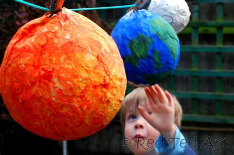 Paper Mache Craft Ideas - solar system crafts planets paper mache education