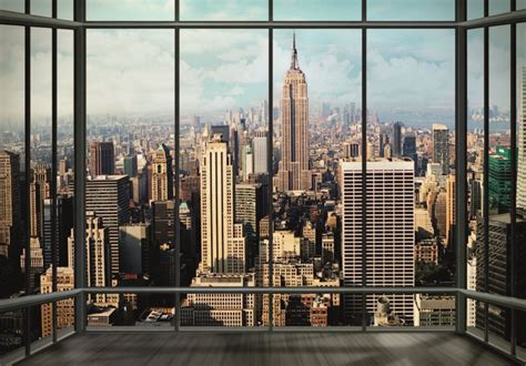 manhattan wall mural new york manhattan skyline wall mural buy at europosters