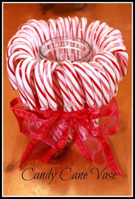 Cheap Christmas Centerpieces To Make - candy cane vase discountqueens com
