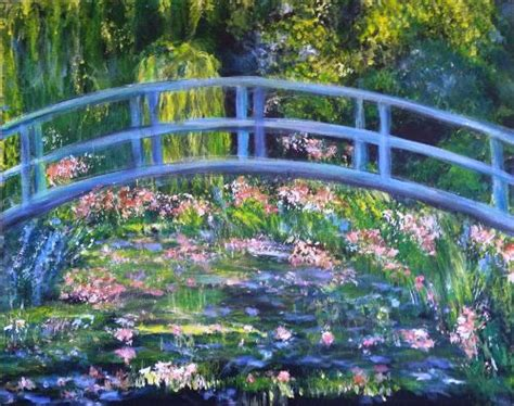 monet s bridge over a pond of water lilies art party