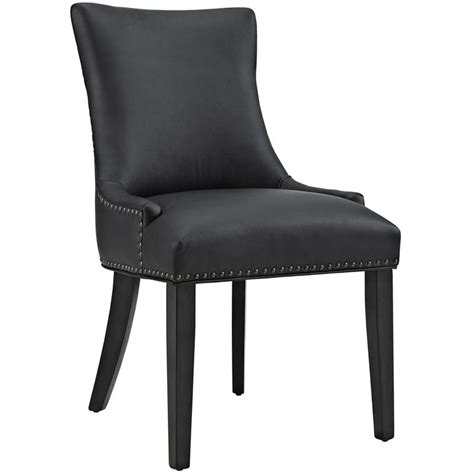 Modway Marquis Faux Leather Upholstered Dining Side Chair Leather Dining Side Chairs