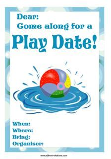 kids playdate invitations all free invitations