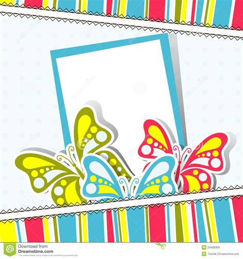 birthday photo card template template greeting card vector stock vector illustration
