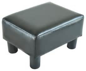 Footstools And Ottomans Homcom Modern Small Faux Leather Ottoman Footrest Stool Black Modern Footstools And