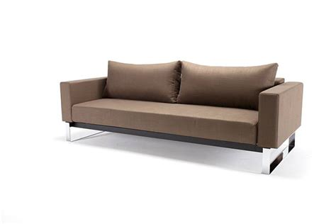 sofa beds full size cassius sleek sofa bed full size dark khaki by innovation