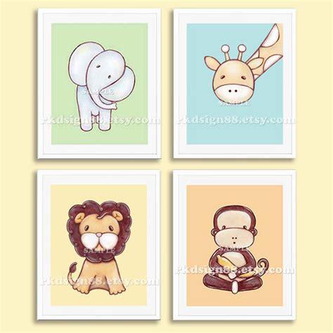 Wall Decor For Nursery Boy Baby Boy Nursery Decor Nursery Prints Wall Safari