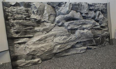aquarium 3d background ornament 3d grey rock size 97x45cm