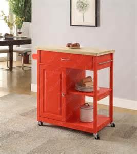 Red Kitchen Island Cart Wooden Red Kitchen Trolley Kitchen Island Cart Buy