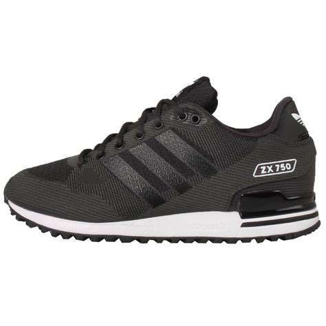 adidas originals zx 750 wv woven black grey mens casual shoes trainers s79195 ebay