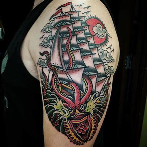 tattoo ship shiptattoo traditional on instagram